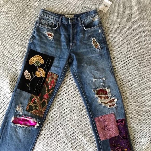 60c3e840399fc3 Free People Jeans | Luxe Embellished Boyfriend | Poshmark